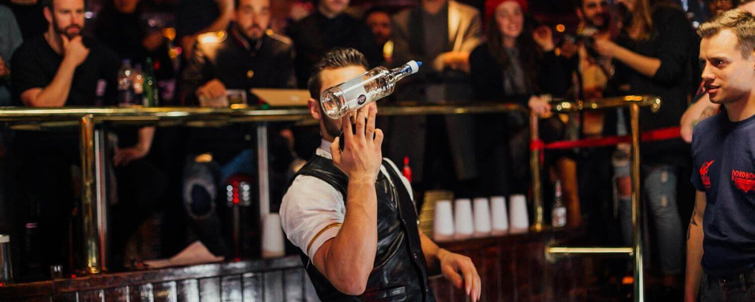 What is the future of flair bartending competitions?